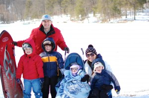 family pic snow day tom wallace